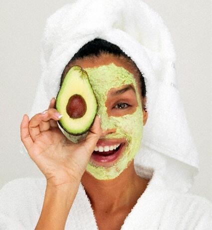 abacate para pele