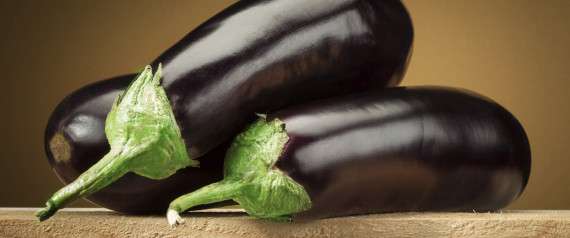 Organic eggplant (aubergine)