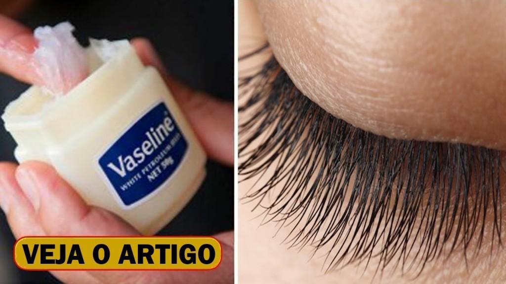 vaselina para crescer os cílios rapido