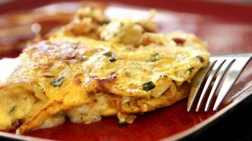 receita de omelete fitness para perder peso