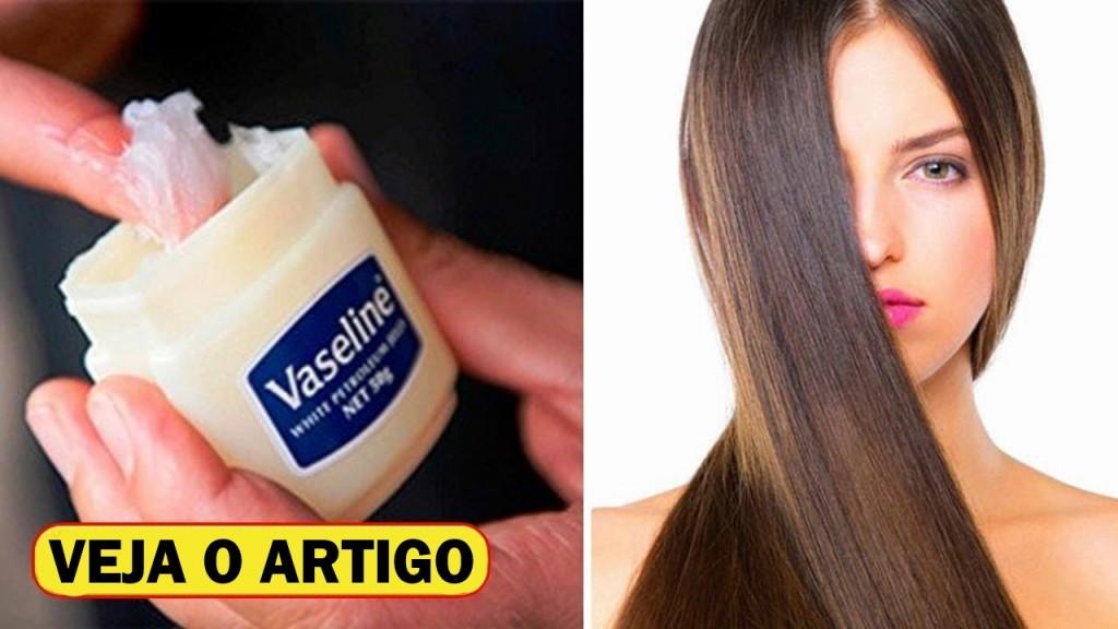 vaselina para crescer o cabelo