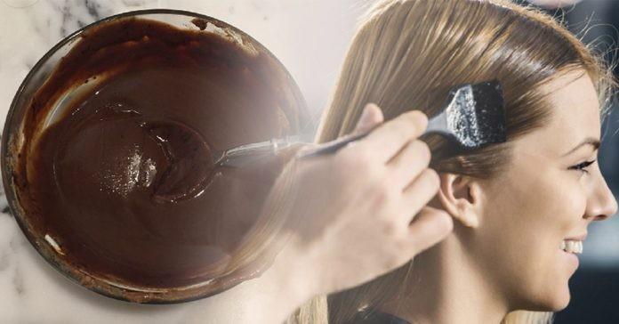 tingir o cabelo usando o café