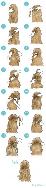 penteado de cabelo preso em laço