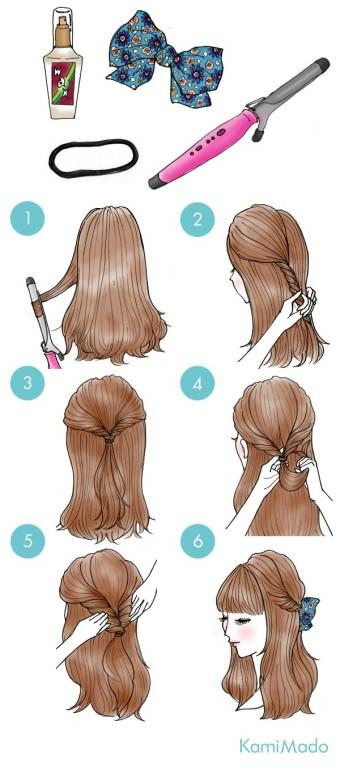 cabelo torcido com laco