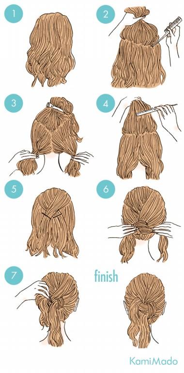 penteado de cabelo em nó baixo