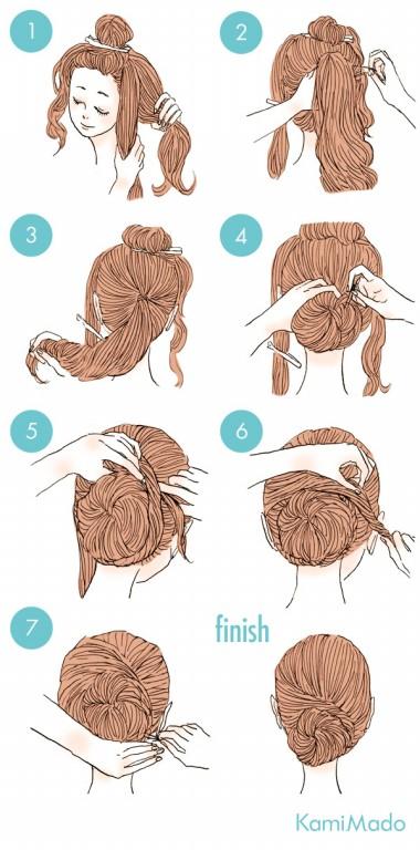 penteado de coque com acabamento feito por trança