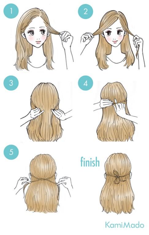 penteado de laco feito com o cabelo