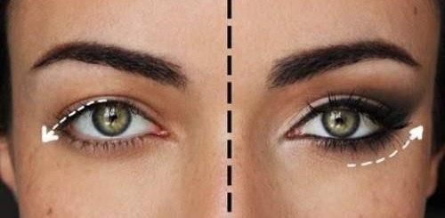 delineador de acordo com o olho