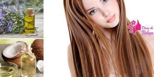 óleo de coco e alecrim para o cabelo crescer