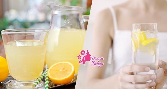 beber água morna com limão