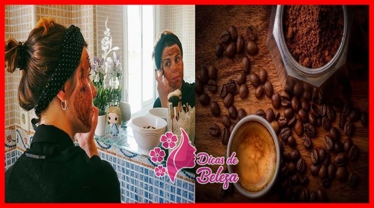mascara de cafe para firmar o rosto e eliminar rugas