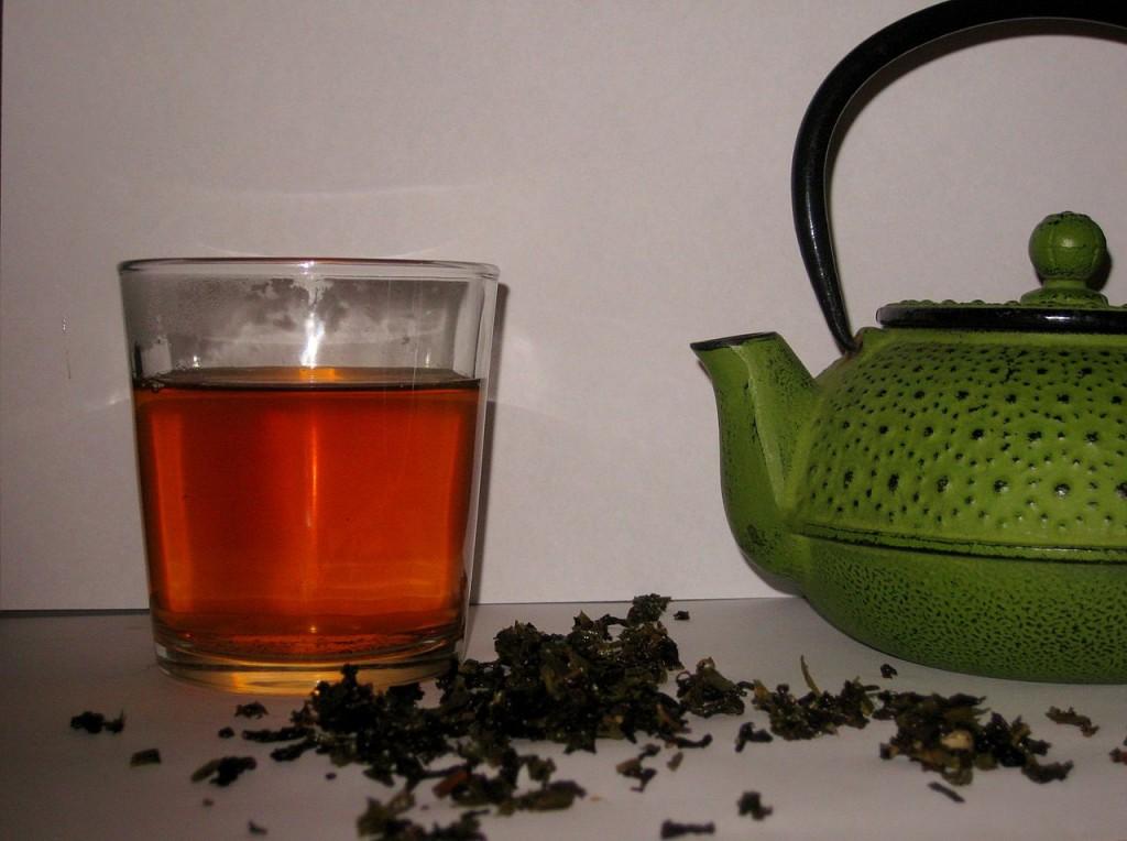 Chá da Folha de Framboesa Vermelha