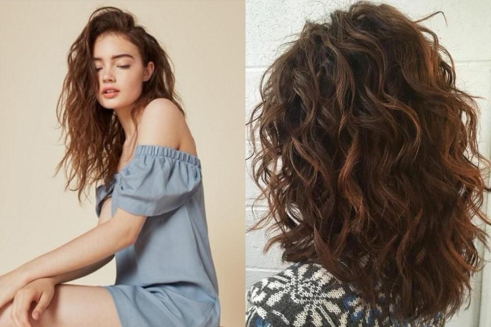cabelos ondulados cortes