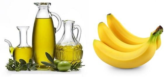 mascara de azeite e banana para hidratar o cabelo danificado