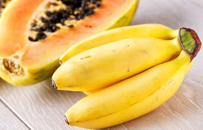 Máscara de Banana e Mamão Para Alisamento de Cabelo
