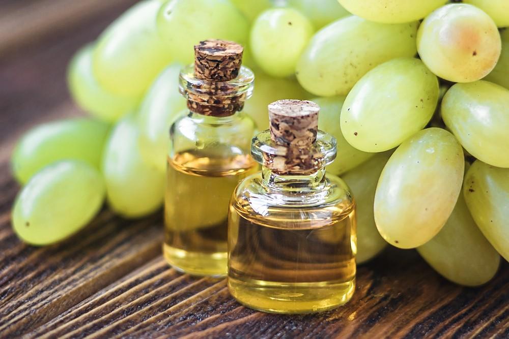 Óleo de uva para cabelo
