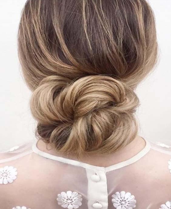 penteado de noiva low chignon