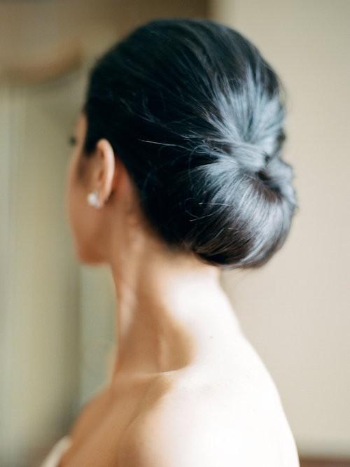 penteado para noiva pão de broa