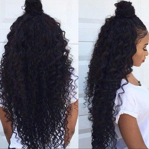 penteado Topknot para cabelo