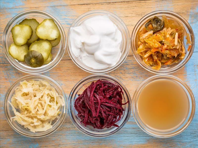 alimentos probióticos saudáveis