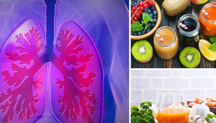 Sucos para limpar os pulmões
