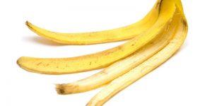 casca de banana para o cabelo