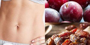 Suco detox de ameixa e tâmara para desintoxicar o intestino