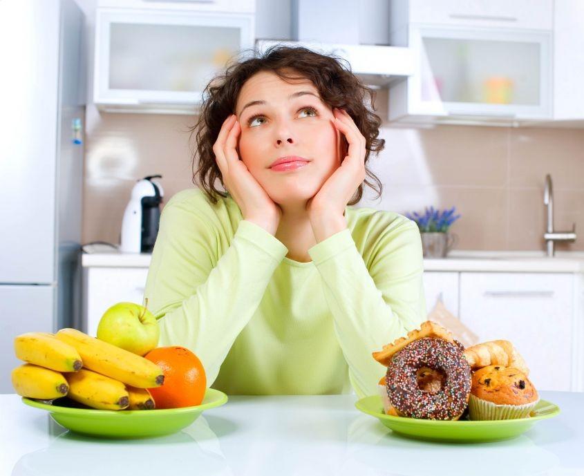 a dependência de doces está em uma dieta desequilibrada