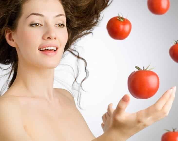 mascara de tomate para o rosto