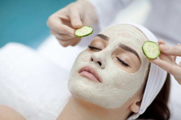 mascara facial com pepino