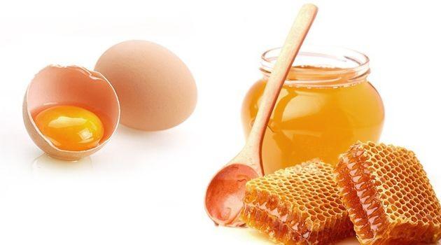 mel e ovo para o cabelo