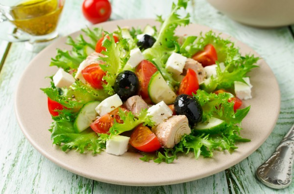 salada para a perda de peso e aumentar o metabolismo