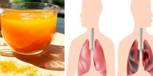 bebida para desintoxicar os pulmões do cigarro