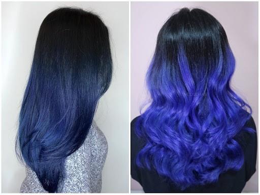 como pintar cabelo azul