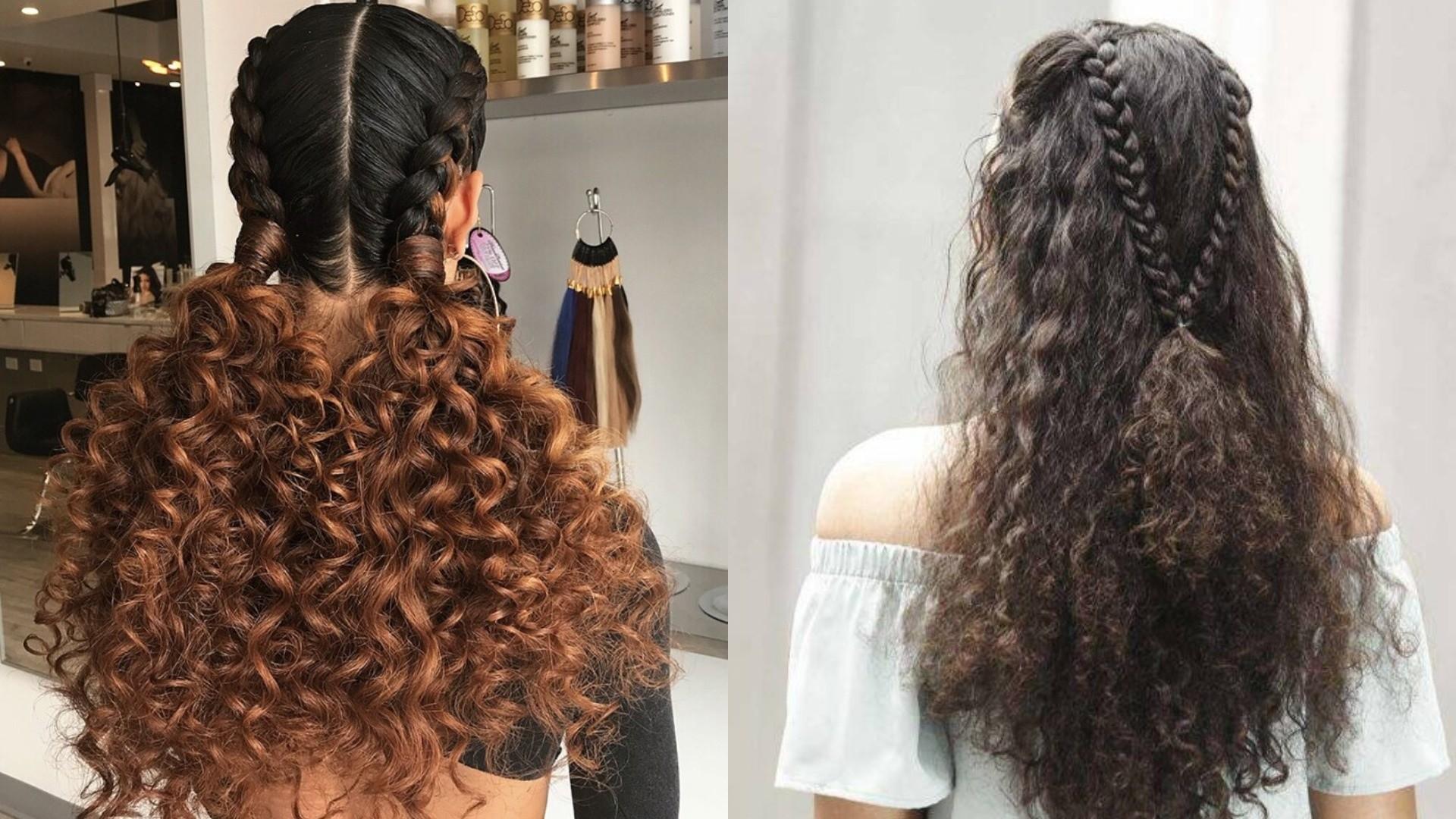 penteados trançados Para cabelos crespos