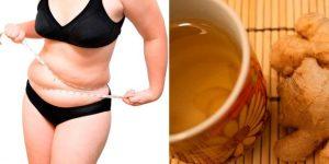 água de gengibre para eliminar a gordura da barriga