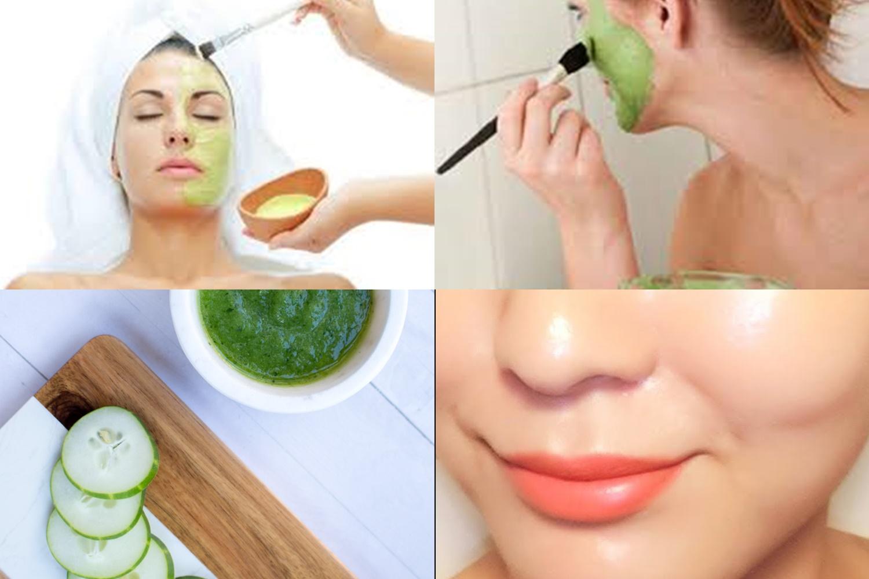 mascara facial de pepino