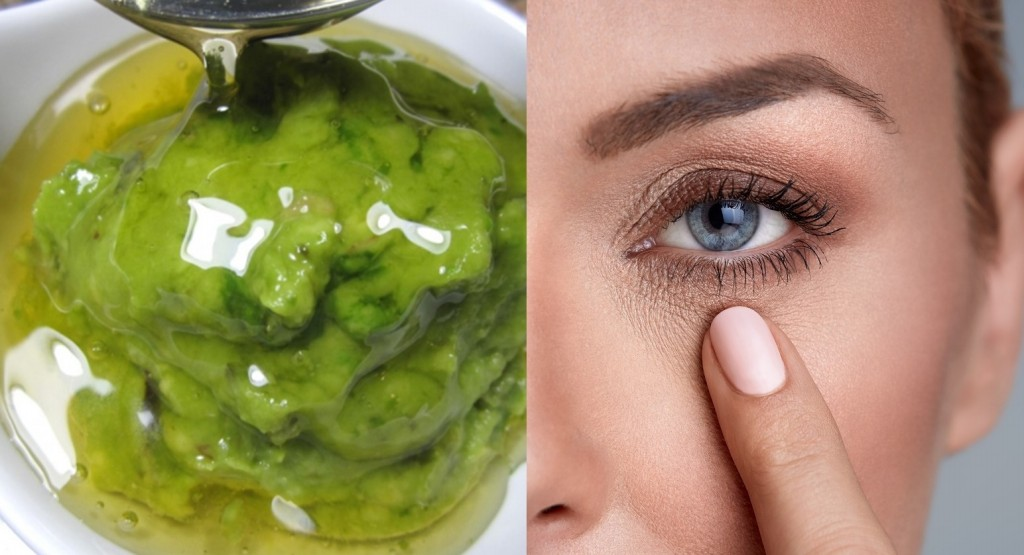 mascara facial de abacate para eliminar olheiras