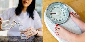 água para perda de peso
