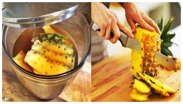 chá de abacaxi e canela que seca barriga