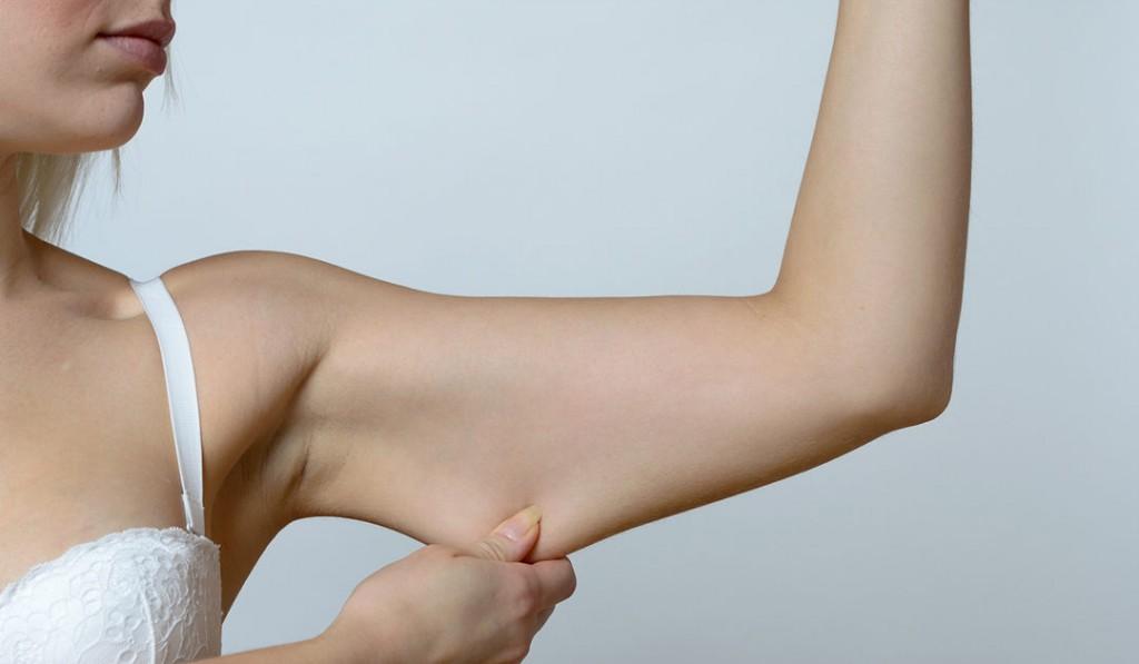 eliminar o excesso de gordura nos braços