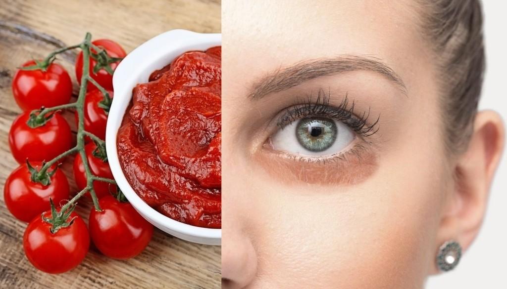mascara caseira de tomate para eliminar olheiras