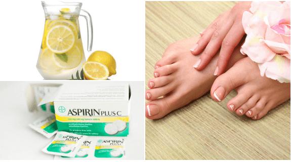 limao com aspirina para eliminar as rachaduras dos pes