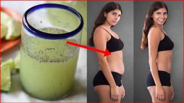 Água com Limão e Chia Para Remover Gordura