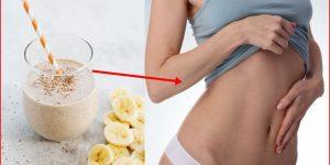 banana congelada para reduzir a gordura da barriga