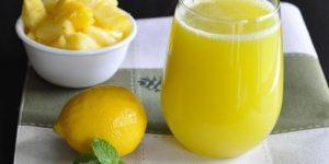 Batido de abacaxi e limão para emagrecer