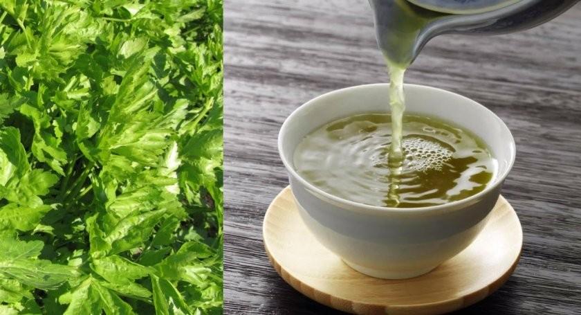 chá de salsa e limãopara reduzir a gordura da barriga