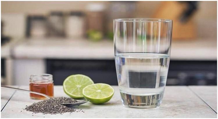 Receita caseira com Chia água com Limão para emagrecer