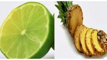 bebida caseira de abacaxi e limão para emagrecer