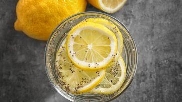 cha de limão e chia